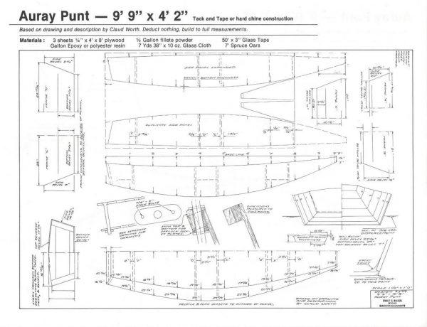 """Auray Punt - 9'-9"""" x 4'-2"""""""