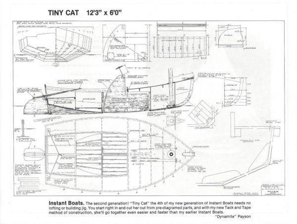 "Catboat (Tiny Cat) - 12'-3"" x 6'-0"""