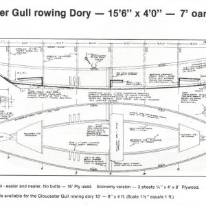 "Gloucester Light Dory - 15'-6"" x 4'-0"""