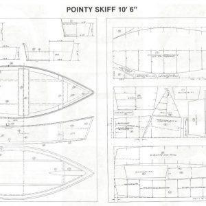 """Pointy Skiff - 10'-6"""" x 4'-2"""""""