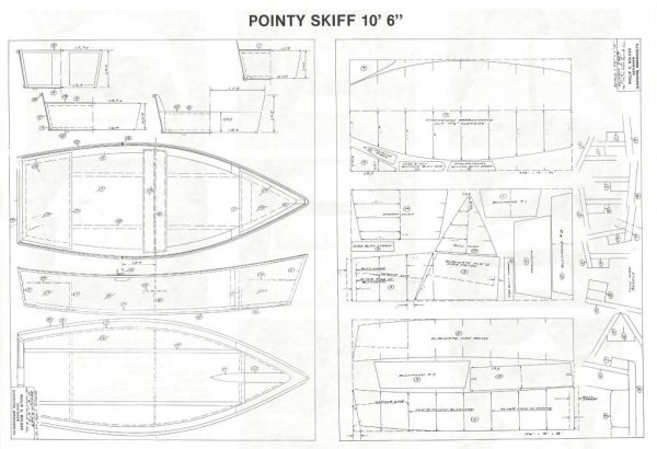 "Pointy Skiff - 10'-6"" x 4'-2"""