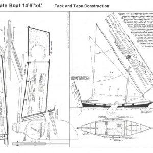 """Pirate Boat - 14'-6"""" x 4'-0"""""""