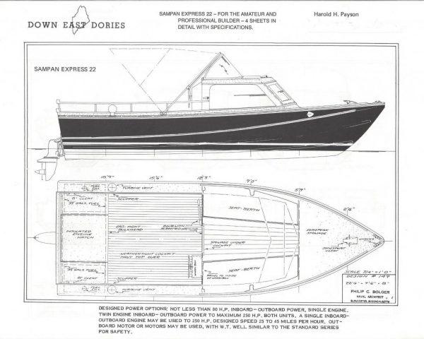 """Sampan Express 22 22'x 7'-0"""""""