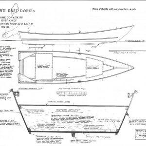 "Sea Hawk Power Dory 15'-6"" x 4'-2"""